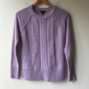 J. Crew Wool Pointelle Cable Sweater